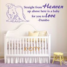 Wall Decor Stickers For Nursery Aliexpress Buy Dumbo The Elephant From Heaven Vinyl