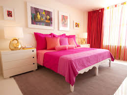 adorable and cute bedroom ideas with pink bedsheet also artsy wall