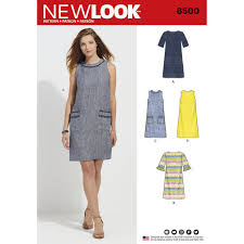 pattern a line shift dress look pattern 6500 misses dress with neckline sleeve and pocket