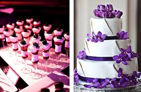 purple and white wedding white wedding cakes 1