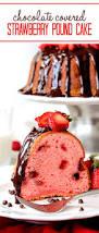 chocolate covered fresh strawberry pound cake