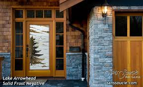 Etched Glass Exterior Doors Lake Arrowhead Etched Glass Front Doors Rustic Design