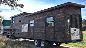 tiny home gooseneck trailer charred wood exterior stand up bedroom