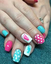 Baby Nail Art Design 9 Best Gender Reveal Nails Images On Pinterest Baby Nail Art