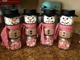 peppermint chocolate snow man with baby food jars clever