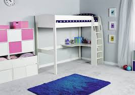 Stompa UNOS High Sleeper Frame With Desk ONLY Boys Beds - High bunk beds
