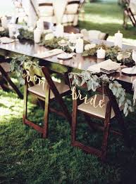 and groom chair covers 30 awesome wedding sign decor ideas for groom chairs