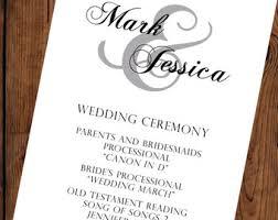 traditional wedding programs wedding programs wedding program traditional wedding