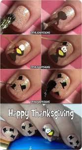 Nail Art Thanksgiving Step By Step Thanksgiving Nail Art Tutorials For Learners 2016