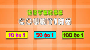 reverse counting 10 to 1 50 to 1 100 to 1 counting backwards