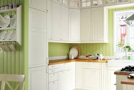 painting ikea kitchen cabinets oven wall mounted shelves drum pendant ls mahogany stained wood