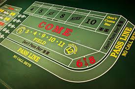 Craps Table Casino Gambling Gaming Craps Table Game Royalty Free Stock Photos