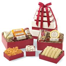 snack delivery next day delivery gift baskets grand snack tower box hickory farms