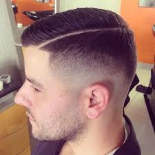 haircut with the line men fade slick razor side line side barbershops pinterest