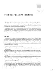 part 2 studies of leading practices improving management of