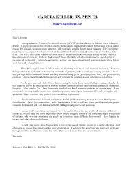 rn new grad resume cover letter