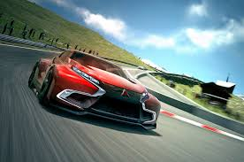 mitsubishi evolution concept mitsubishi concept xr phev evolution vision gran turismo video
