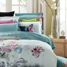 mint green and white abstract oriental floral 100 cotton