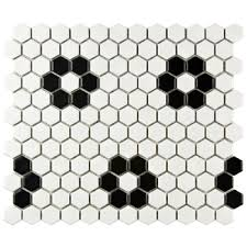 vintage retro tile collections black and white