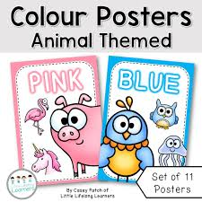 themed posters colour posters animal theme classroom decor the alphabet tree