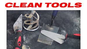 Hints On How To Clean How To Clean Cement From Tools Youtube