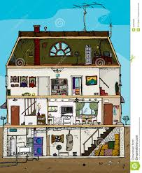 old house cross section royalty free stock photo image 25813585 basement cartoon cross house old