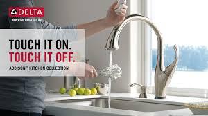 addison kitchen faucet delta addison kitchen faucet with touch2o technology delta faucet