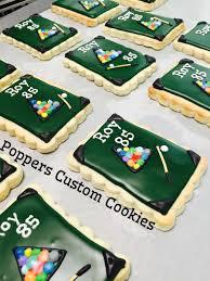 pool table billiards cookies poppers custom cookies crazy for