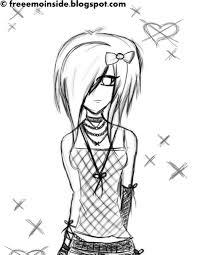 emo blog emo cute sketch