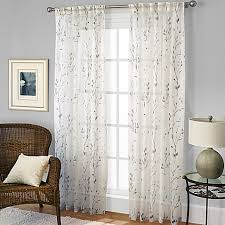 Sheer Pinch Pleat Curtains Willow Print Pinch Pleat Sheer Window Curtain Panel Bed Bath