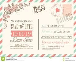 wedding postcards vintage postcard background for wedding invitation stock vector