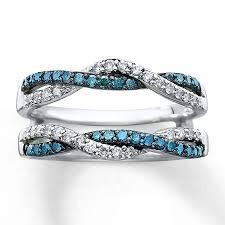 blue rings white images Diamond enhancer ring 1 2 ct tw blue white 14k white gold jpg