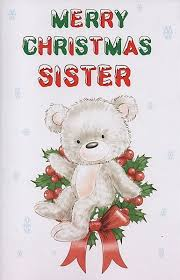 female relation christmas cards merry christmas sister