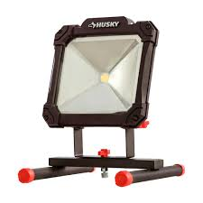 husky 3500 lumen led portable worklight k40069 the home depot