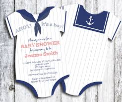 sailor baby shower invitation nautical themed shower