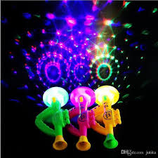 blacklight party supplies 2017 kids saxophone shaped lighting horn 3d projection toys