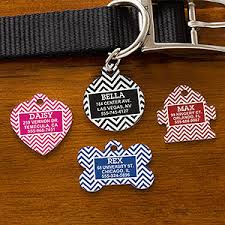 personalized cat gifts personalized pet id tags chevron