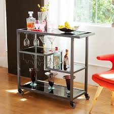 modern kitchen cart stainless steel kitchen cart all in one holly martin zephs bar cart hayneedle