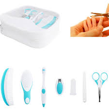 7pcs newborn baby healthcare grooming kit set kids nail clipper
