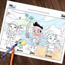 jake land pirates coloring disney family