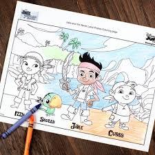 jake land pirates coloring disney family