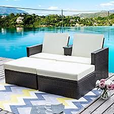 amazon com outdoor patio wicker furniture pool lounge all weather