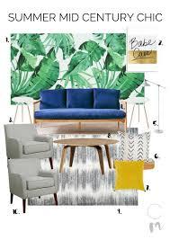 Midcentury Modern Living Room Chic Mid Century Modern Living Room Ready For Summer Chic Misfits