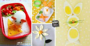 cuisine avec des oeufs décorations avec les oeufs durs 20 idées originales