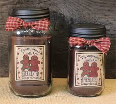 gingerbread jar candle by thompson candles
