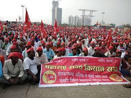 Seeking In Mumbai Seeking Loan Waiver Higher Msp Thousands Of Farmers March Into