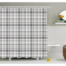 Gray And Brown Shower Curtain - modern shower curtains allmodern