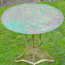 Repainting Metal Patio Furniture - french painted metal bistro table decorative collective