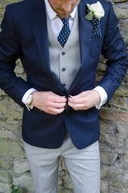 navy grey suit groom polka dot modern classic grey white chic