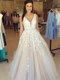 wedding dress a line a line v neck lace wedding dresses lace prom dresses
